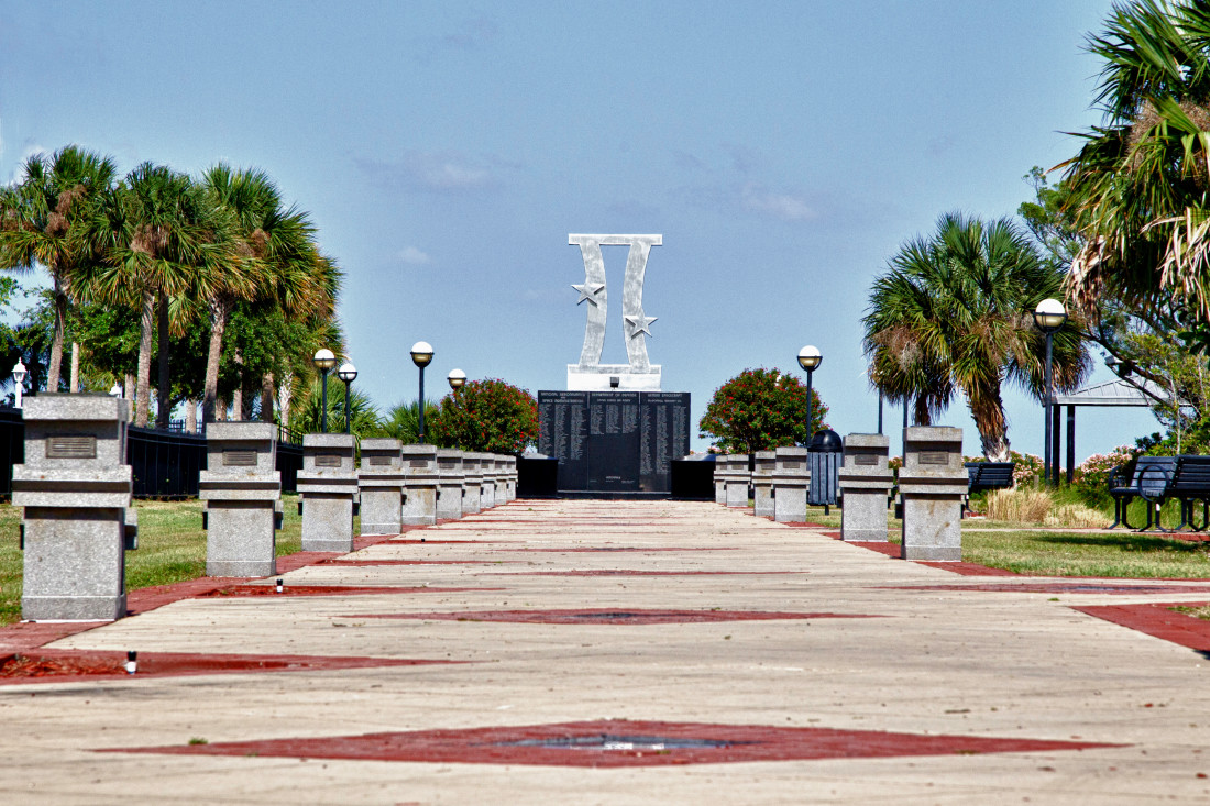 Gemini Monument and Walk - Space View Park - Titusville Florida