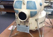 Original model of the first lunar excursion module LEM