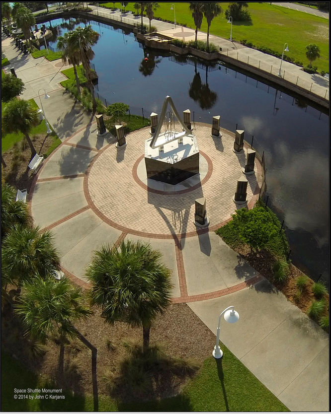 Space Shuttle Monument - Space View Park Titusville
