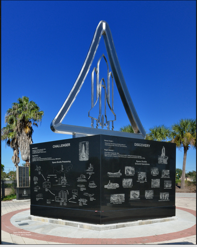 Space Shuttle Monument - Space View Park - Titusville Florida
