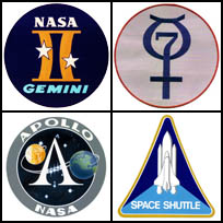 Space flight mission logos