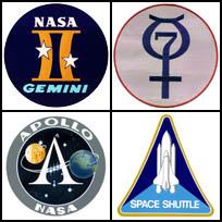 Space flight mission logos
