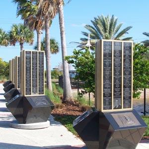Apollo Monument Name Pillars - Space View Park - Titusville Florida