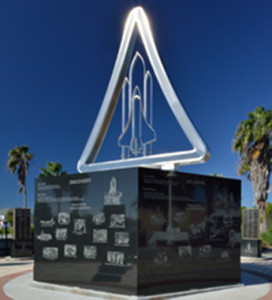 Shuttle Monument at Space View Park - Walk of Fame Museum Titusville