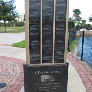In Line of Duty Monument - Side 2 - Space View Park